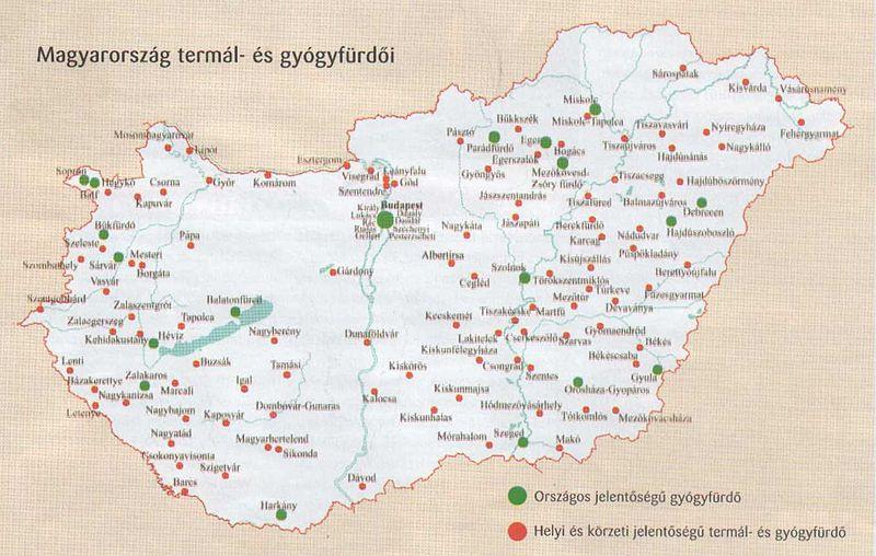 magyarország gyógyvizei térkép Magyarországi gyógyvízek magyarország gyógyvizei térkép